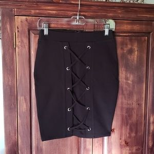 Black NWT Shinestar short skirt